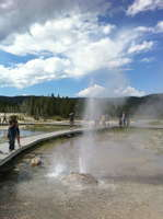 Penta Geyser eruption 2010 July 31