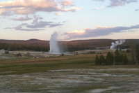 Grand Geyser after sunset 04Aug 2010