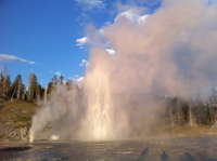 Grand Geyser at sunset 04Aug 2010