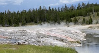 Oblong Geyser post-eruption runoff